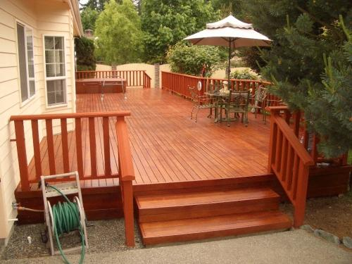 how to clean mahogany deck
