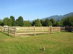 Cedar Split Rail is cost effective and low maintenance.