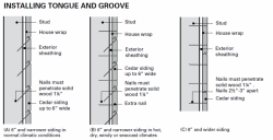 We recommend Stainless Steel nails for Cedar Tongue & Groove
