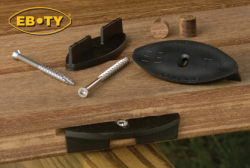 The EB-TY provides a unique method of fastening deck boards that makes the fasteners virtually invisible.